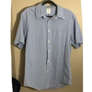 Brooks brothers 1818 regent blue check button down